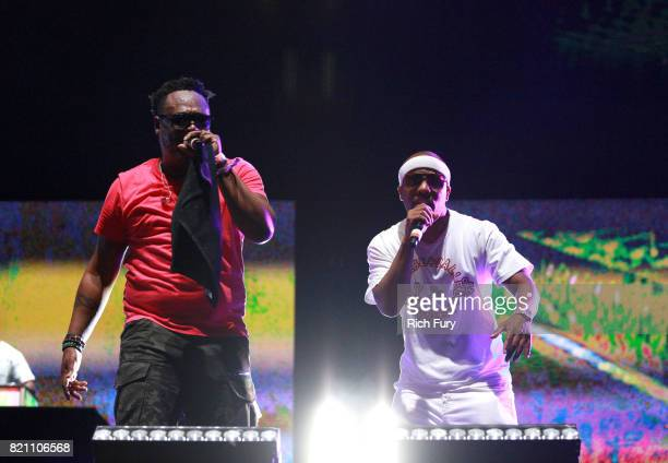 Jarobi White and Consequence of A Tribe Called Quest perform onstage during day 2 of FYF Fest 2017 at Exposition Park on July 22 2017 in Los Angeles...