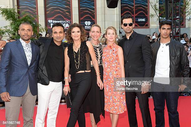 Jarod Joseph, Huse Madhavji, Wendy Crewson, Kim Shaw, Michelle Nolden, Benjamin Ayres and Dejan Loyola arrive at the 2016 iHeartRADIO MuchMusic Video...