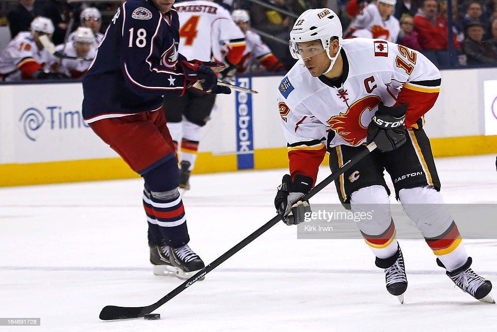 Calgary Flames v Columbus Blue Jackets : News Photo