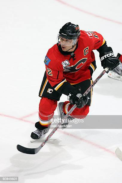 Jarome Iginla of the Calgary Flames skates against the Colorado Avalanche during their game on October 28 2009 at the Pengrowth Saddledome in Calgary...