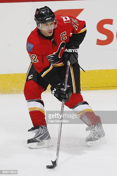 Jarome Iginla of the Calgary Flames skates during the game against the Colorado Avalanche on October 28 2008 at the Pengrowth Saddledome in Calgary...