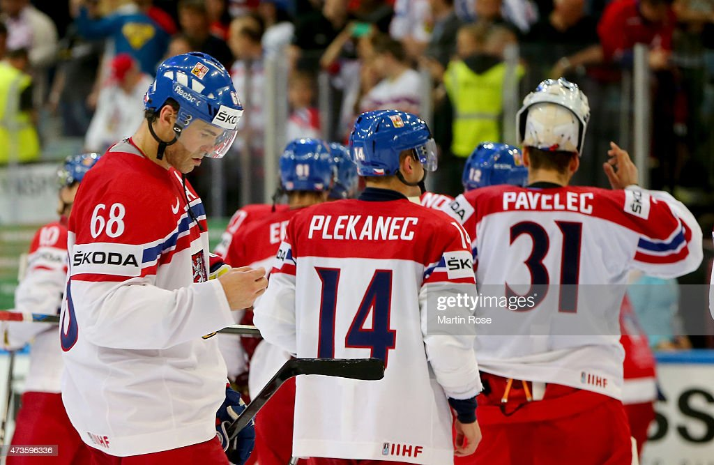 Jaromir Jagr #68 of Czech Republic looks dejected after the IIHF World Championship semi final match between Canada and Czech Republic at O2 Arena on May 16, 2015 in Prague, Czech Republic.