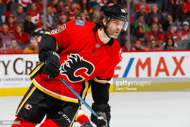 Jaromir Jagr of the Calgary Flames in a game against the Philadelphia Flyers at the Scotiabank Saddledome on December 04 2017 in Calgary Alberta...