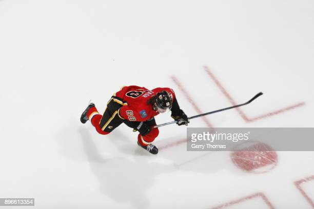 Jaromir Jagr of the Calgary Flames skates against the Detroit Red Wings during an NHL game on November 9 2017 at the Scotiabank Saddledome in Calgary...