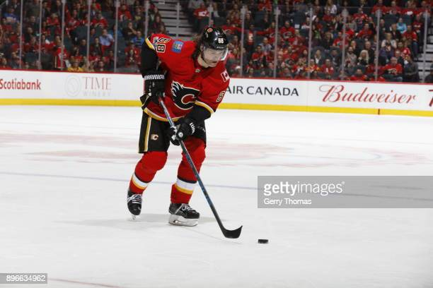 Jaromir Jagr of the Calgary Flames skates against the Nashville Predators during an NHL game on December 16 2017 at the Scotiabank Saddledome in...