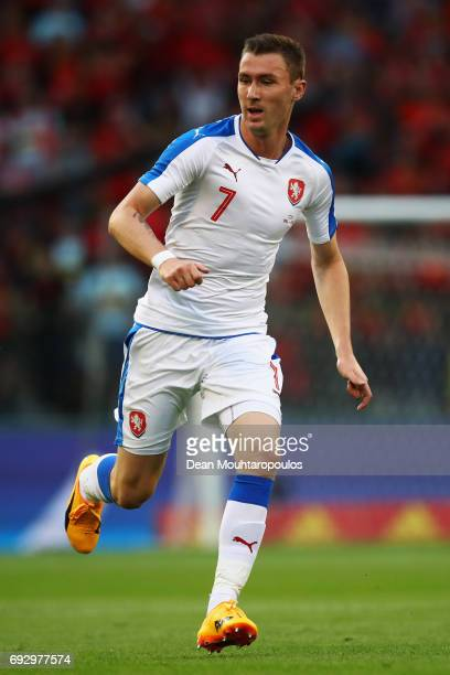 Jaromir Zmrhal of the Czech Republic in action during the International Friendly match between Belgium and Czech Republic at Stade Roi Baudouis on...