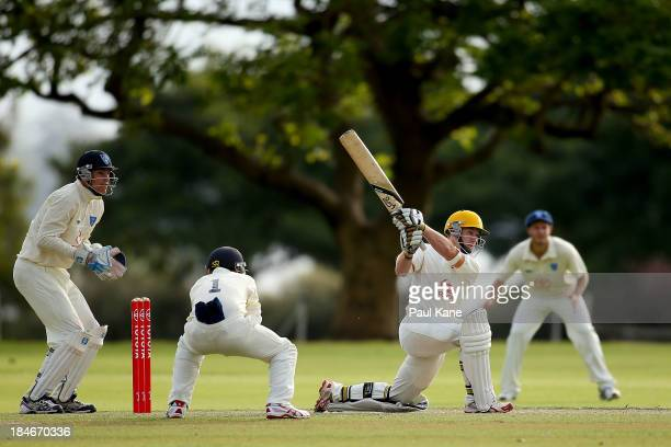 Jaron Morgan of Western Australia bats during day two of the Futures League match between Western Australia and New South Wales at Richardson Park on...