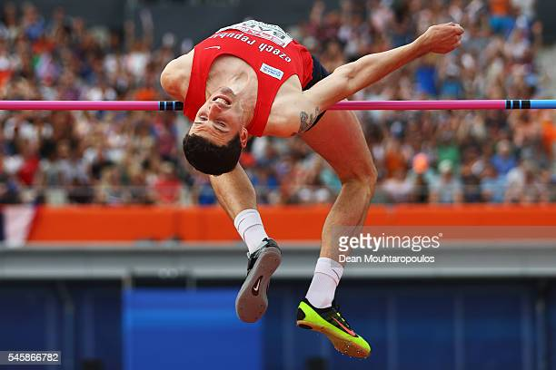 Jaroslav Baba of The Czech Republic in action during the final of the mens high jump on day five of The 23rd European Athletics Championships at...