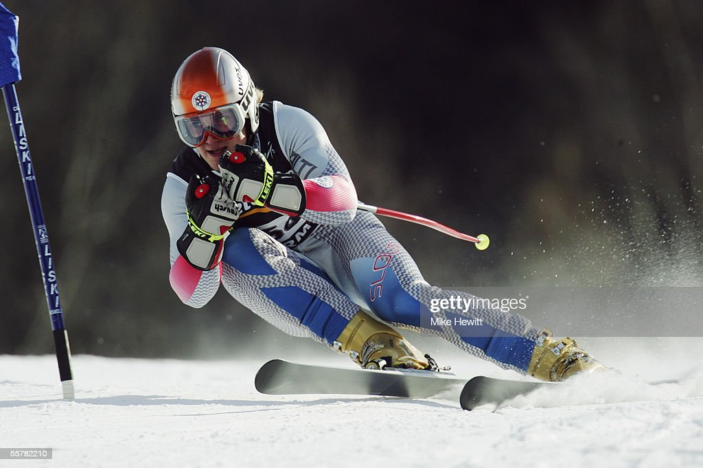 Jaroslav Babusiak of Slovenia in action during the Men's Super-G at the FIS Alpine World Ski Championships on January 29, 2005 in Bormio, Italy.