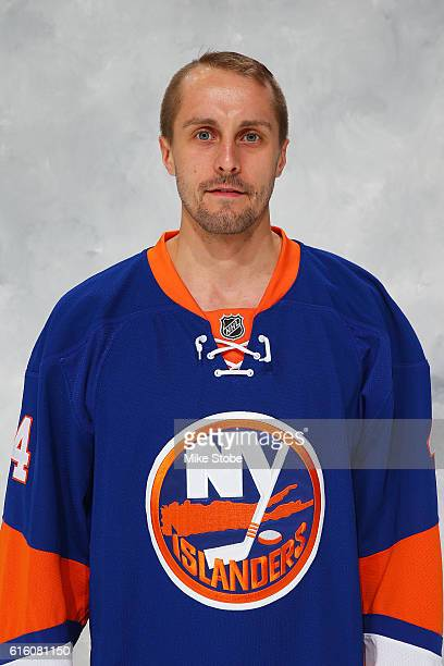 Jaroslav Halak of the New York Islanders poses for his official headshot for the 20162017 season at the Barclays Center on October 21 2016 in...
