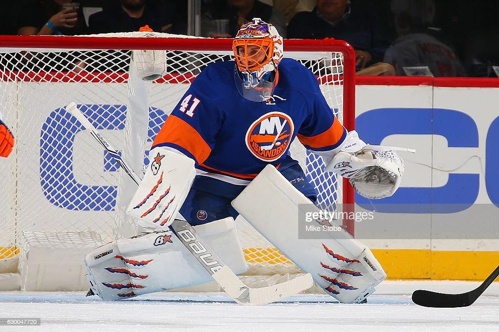 new concept 5668f abab3 Jaroslav Halak of the New York Islanders skats against the ...