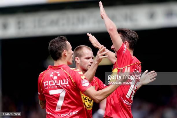 Jaroslav Navratil of Go Ahead Eagles Paco van Moorsel of Go Ahead Eagles celebrate goal during the Dutch Keuken Kampioen Divisie match between Go...