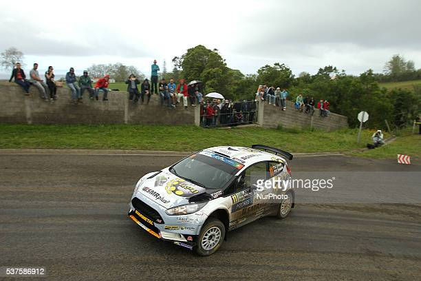 Jaroslav Orsak and David Smeidler in Ford Fiesta R5 of Kimi Racing during the shakedow of the FIA ERC Azores Airlines Rallye 2016 in Ponta Delgada...
