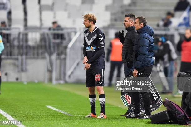 Jaroslav Plasil of Bordeaux during the Ligue 1 match between FC Girondins de Bordeaux and Montpellier Herault SC at Stade Matmut Atlantique on...
