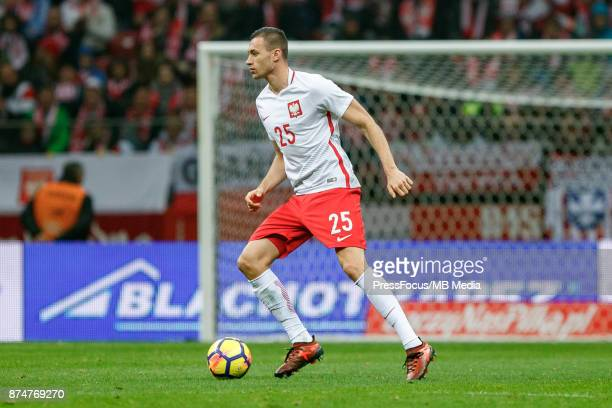 Jaroslaw Jach of Poland during international friendly match between Poland and Uruguay at National Stadium on November 10 2017 in Warsaw Poland