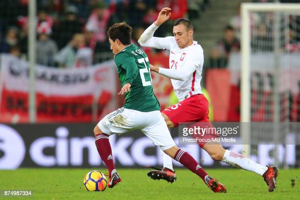 Jaroslaw Jach of Poland during the international friendly match between Poland and Mexico on November 13 2017 in Gdansk Poland
