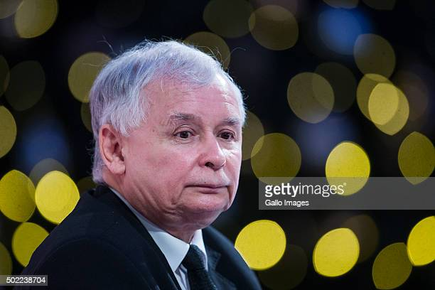 WARSAW POLAND DECEMBER 21 Jaroslaw Kaczynski attends the conference 'Sovereignty solidarity security Lech Kaczynski and Central and Eastern Europe'...