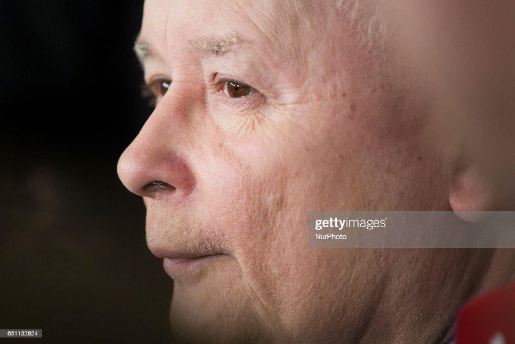 PiS party leader Jaroslaw Kaczynski : News Photo