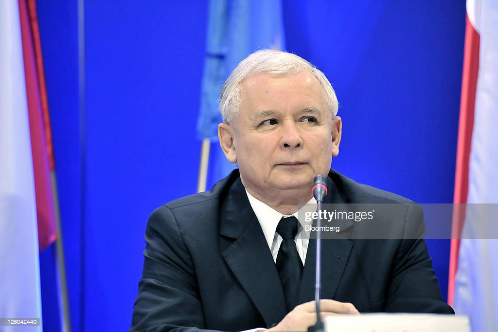 Law And Justice Party Leader Jaroslaw Kaczynski Ahead Of Elections