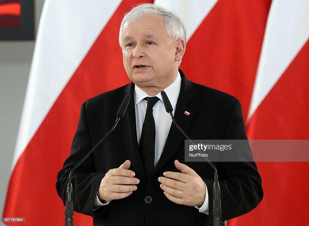 Jaroslaw Kaczynski speech in the Polish Parliament : News Photo