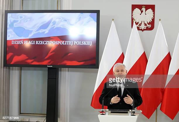 Jaroslaw Kaczynski speech in the Polish Parliament in Warsaw Poland on May 2 2016