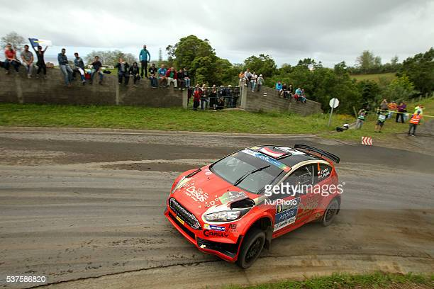 Jaroslaw Koltun and Ireneusz Pleskot in Ford Fiesta R5 of CRally during the shakedow of the FIA ERC Azores Airlines Rallye 2016 in Ponta Delgada...