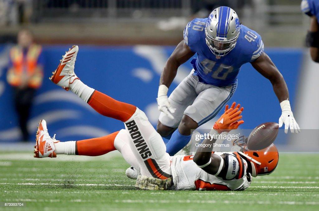 Cleveland Browns v Detroit Lions : News Photo