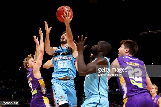 Jarrad Weeks of the Breakers during the round six NBL match between the Sydney Kings and the New Zealand Breakers at Qudos Bank Arena on November 18,...