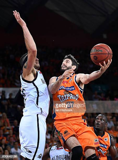 Jarrad Weeks of the Taipans attempts a jump shot during the round 13 NBL match between Cairns and Melbourne on December 29 2016 in Cairns Australia