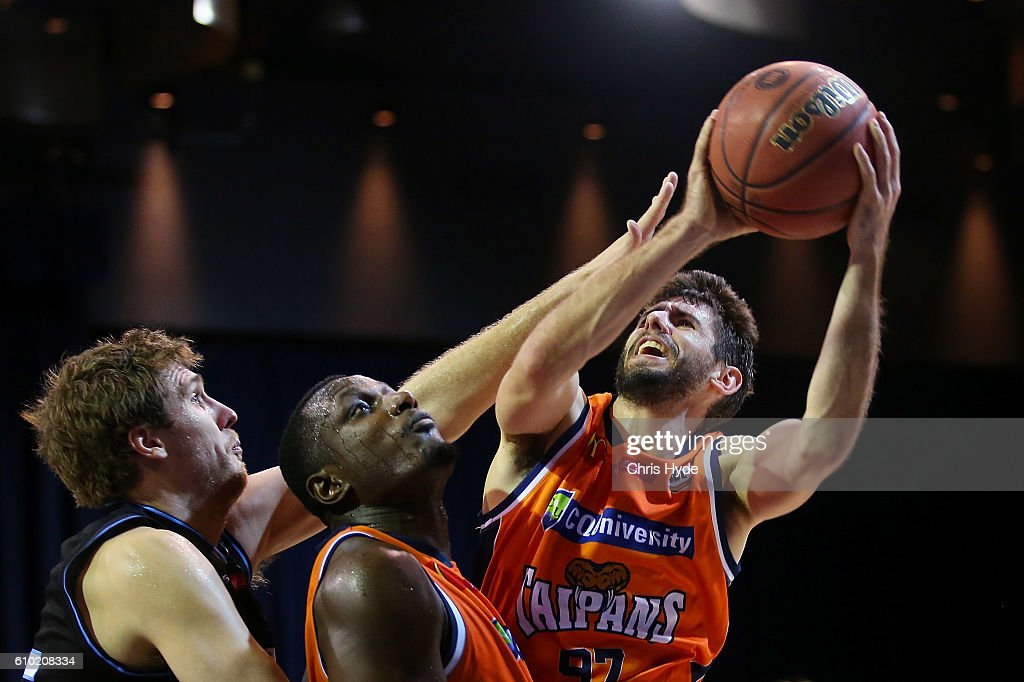 Jarrad Weeks of the Taipans shoots during the Australian Basketball Challenge match between New Zealand Breakers and Cairns Taipans at Brisbane Convention and Exhibition Centre on September 25, 2016 in Brisbane, Australia.