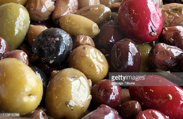 Jarred olives and supermarket olive bars offer flavor color and texture variety But put your own stamp on the olives with a marinade