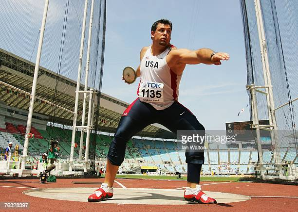 Jarred Rome of the United States of America competes during the Men's Discus Throw qualifications on day two of the 11th IAAF World Athletics...
