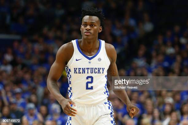 Jarred Vanderbilt of the Kentucky Wildcats in action against the Florida Gators at Rupp Arena on January 20 2018 in Lexington Kentucky