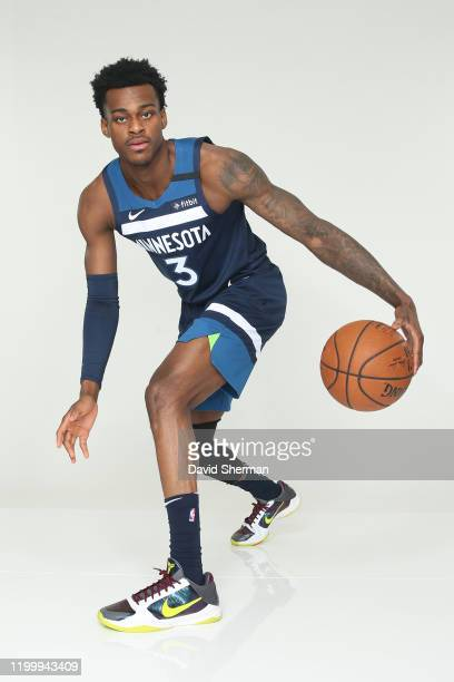 Jarred Vanderbilt of the Minnesota Timberwolves poses for a portrait on February 8 2020 at Target Center in Minneapolis Minnesota NOTE TO USER User...