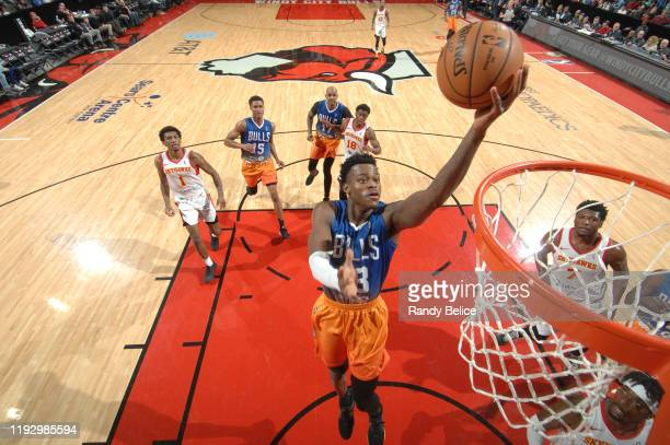 Jarred Vanderbilt of the Windy City Bulls goes to the basket during the game against the College Park Skyhawks at the Sears Centre on January 10 2020...