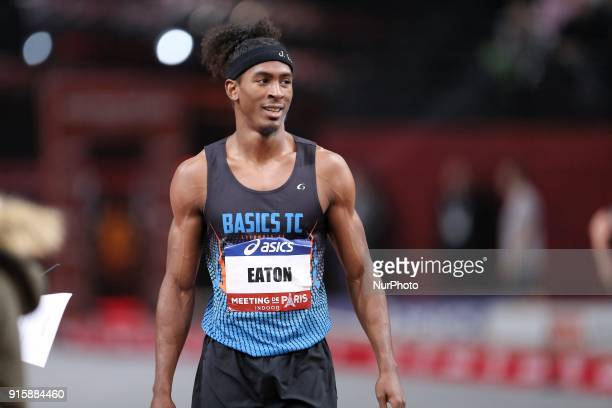 Jarret Eaton of USA wins the 60m Hurdles during the Athletics Indoor Meeting of Paris 2018 at AccorHotels Arena in Paris France on February 7 2018