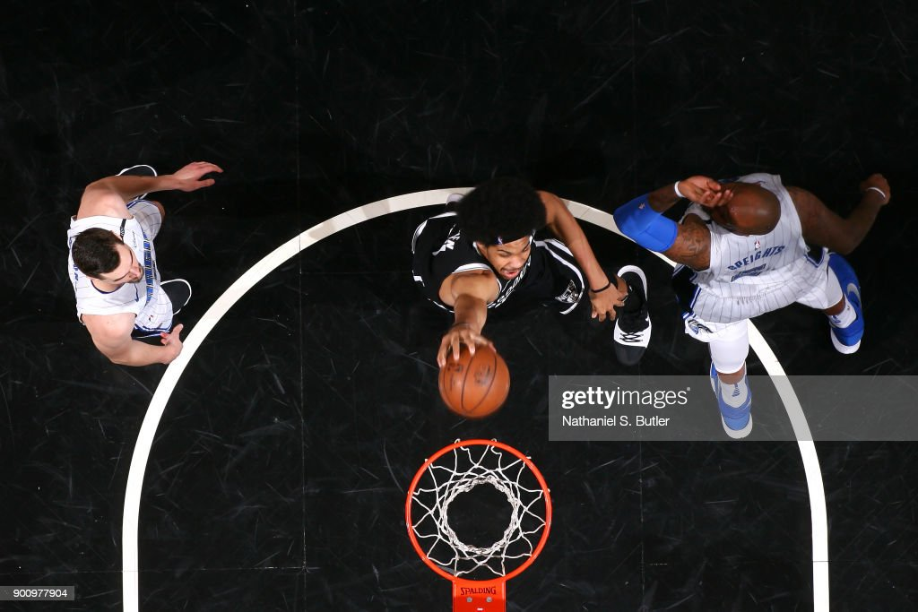 Jarrett Allen  31 of the Brooklyn Nets dunks the ball against the Orlando  Magic on f6f78e9a5