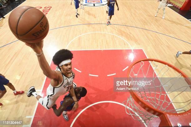 Jarrett Allen of the Brooklyn Nets dunks the ball during the game against the LA Clippers on March 17 2019 at STAPLES Center in Los Angeles...