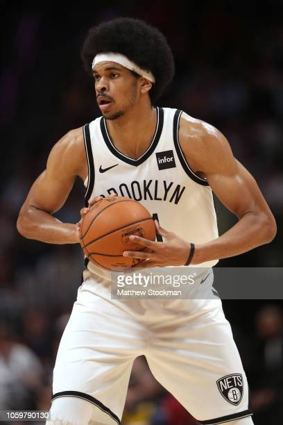 Jarrett Allen of the Brooklyn Nets plays the Denver Nuggets at the Pepsi Center on November 9 2018 in Denver Colorado NOTE TO USER User expressly...