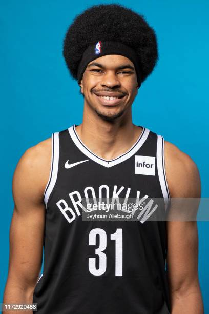 Jarrett Allen of the Brooklyn Nets poses for a head shot during a Media Day on September 27, 2019 at HSS Training Center in Brooklyn, New York. NOTE...