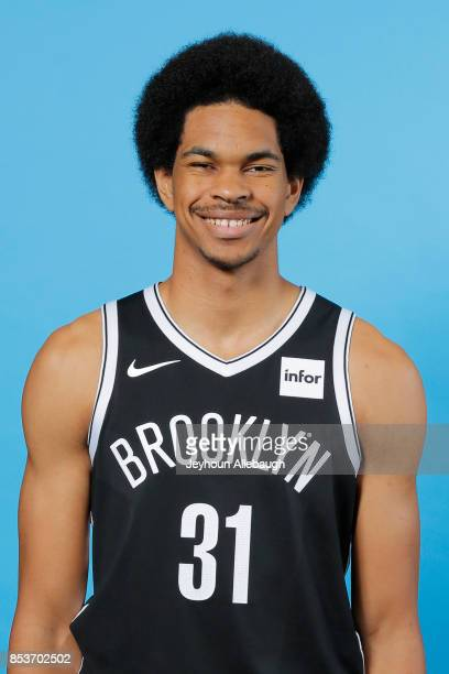 Jarrett Allen of the Brooklyn Nets poses for a head shot during Media Day on September 25 2017 at the HSS Training Center in Brooklyn New York NOTE...