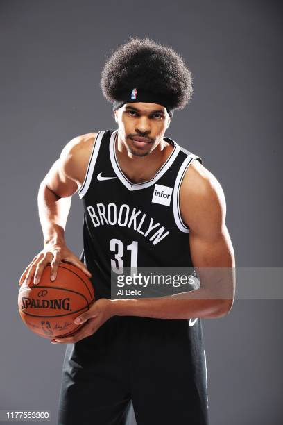 Jarrett Allen of the Brooklyn Nets poses for a portrait during Media Day at HSS Training Center on September 27, 2019 in New York City.
