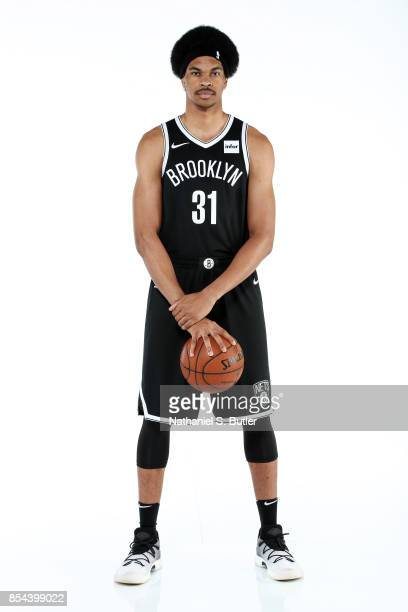 Jarrett Allen of the Brooklyn Nets poses for a portrait during the 20172018 Brooklyn Nets Media Day at the Hospital for Special Surgery Training...