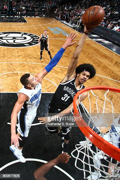 Jarrett Allen of the Brooklyn Nets shoots the ball against the... News  Photo  df1149163