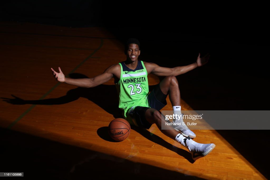 Jarrett Culver of the Minnesota Timberwolves poses for a portrait