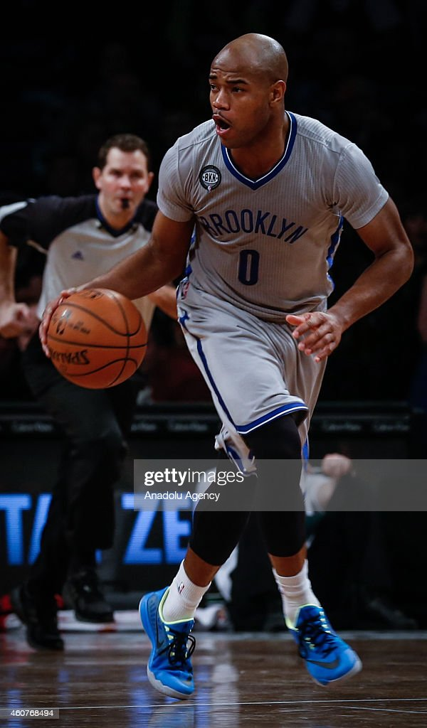Jarrett Jack of Brooklyn Nets in action during NBA basketball game between Brooklyn Nets and Detroit Pistons at the Barclays Center in the Brooklyn Borough of New York City, on December 21, 2014.