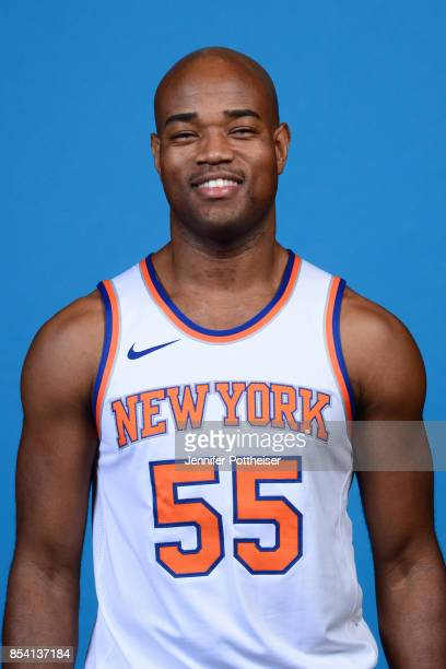 Jarrett Jack of the New York Knicks poses for a portrait during 2017 Media Day on September 25 2017 at the New York Knicks Practice Facility in...