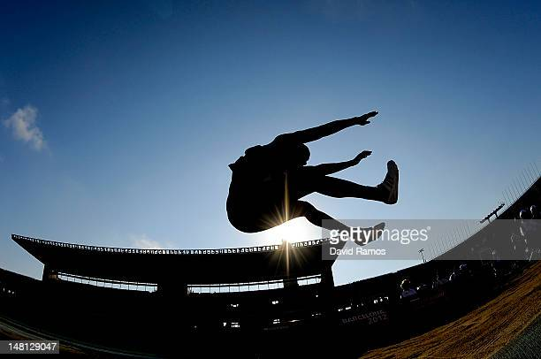 Jarrett Samuels of United States competes during the Men's Long Jump qualification round on the day one of the 14th IAAF World Junior Championships...