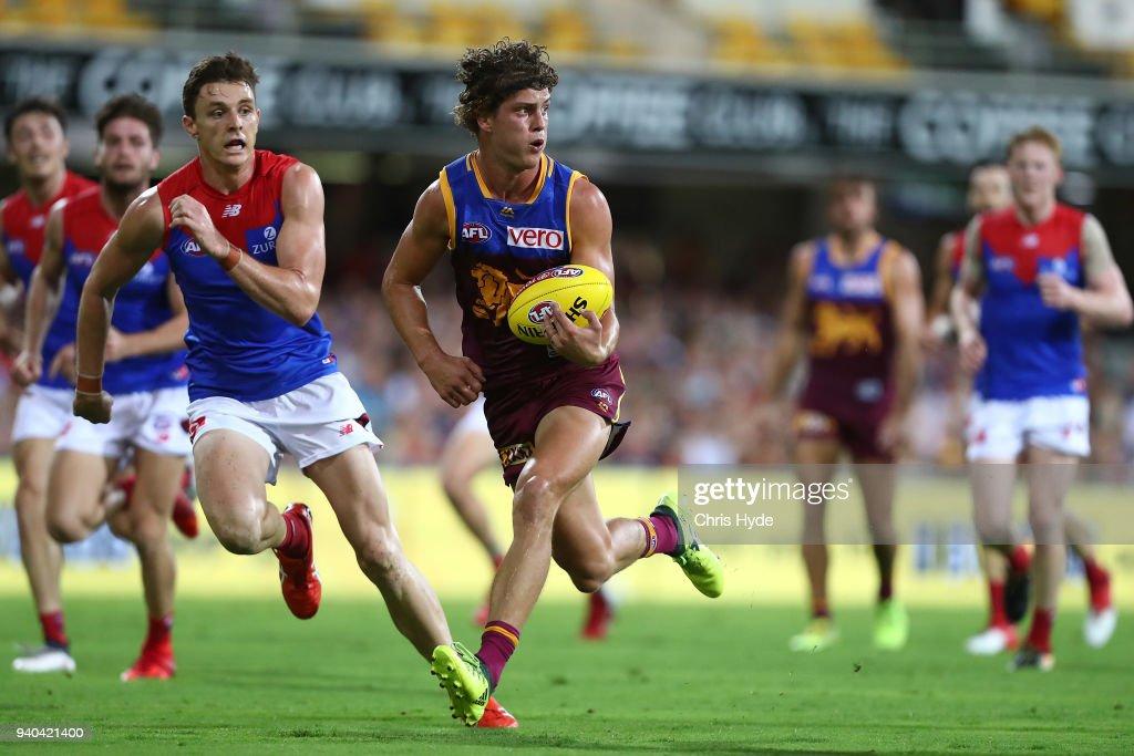 AFL Rd 2 - Brisbane v Melbourne : News Photo