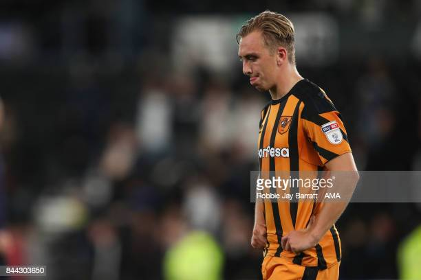 Jarrod Bowen of Hull City dejected at full time during the Sky Bet Championship match between Derby County and Hull City at iPro Stadium on September...